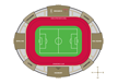 Map of Emirates Stadium